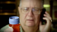 Elderly Man Ordering Medicine video