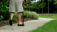 Elderly Man Walking Injured video