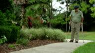 Elderly Man with Leg Injury video