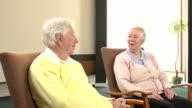 Elderly people talking video