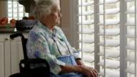 Elderly Person in a wheelchair video