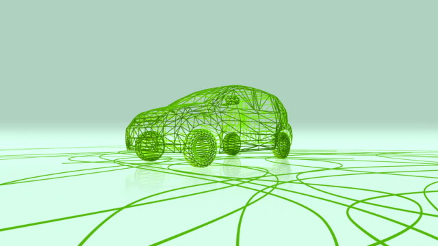 Electric Car Made Of Cables video