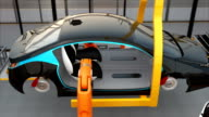 Electric car seat assembly line video