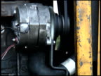 Electric Motor and Fanbelt in Engine video