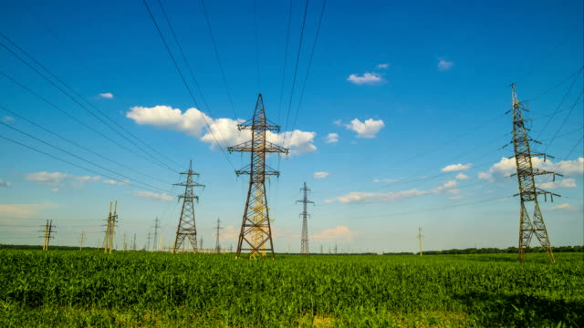 Electric Power Transmission Towers video