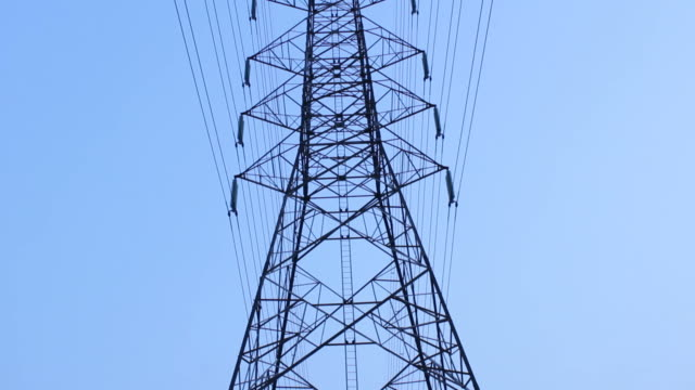 Electric powerlines video