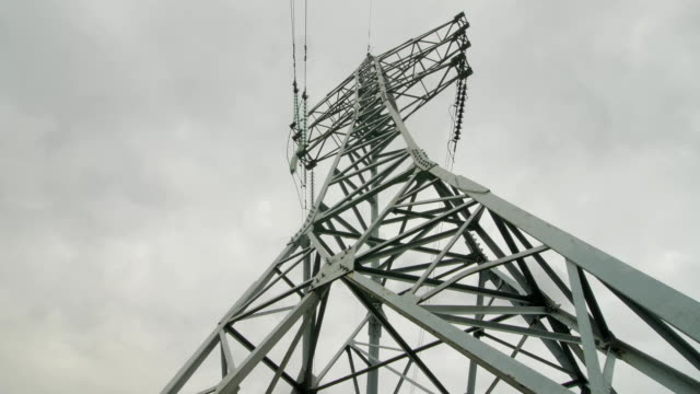 Electric support of high voltage power cables. Energy industry video