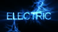Electric Word Text Animation with Electrical Lightning video