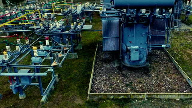 Electrical substation. Industrial background video