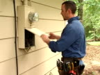 Electrican Checking a power box video