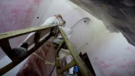 Electrician Installing New Light From the Optical Fibers video