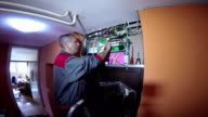 Electrician Upgrade New Electrical System in Building video