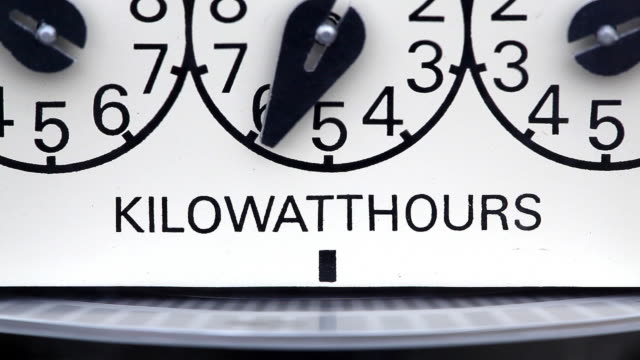 electricity - electric kilowatthour meter video