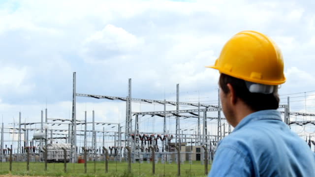 Electricity Engineer man on the phone video