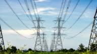 electricity high voltage power pylon video