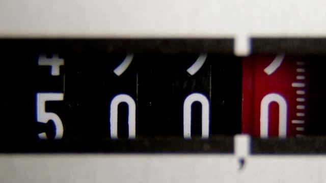 Electricity meter display dial video