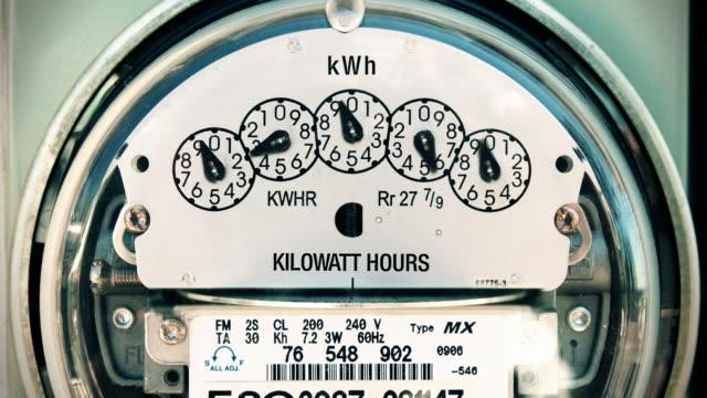 Electricity Meter (Time-lapse) Loop video