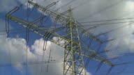 Electricity Pylon Against Sky Time Lapse video