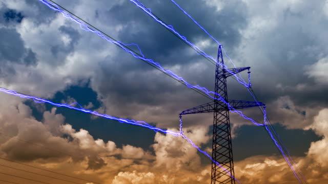 Electricity pylon video
