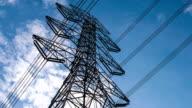 Electricity pylons timelapse video
