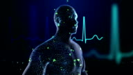 Electrocardiogram visualization with 3D human model video