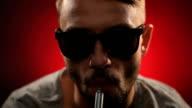 Electronic Cigarette Smoking. E-Cigarette video