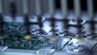 Electronic circuit board production. Manufacture of electronic chips video