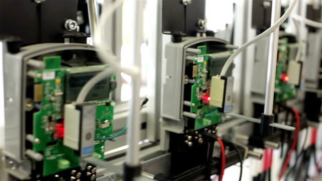 Electronic equipment on a test stand video