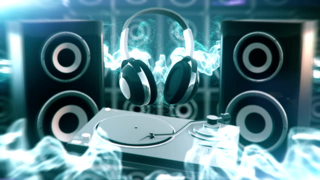 Electronic music (blue) - Loop video