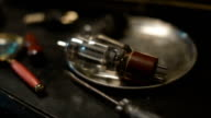 Electronic vacuum tube - old technology video