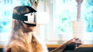 Electronic virtual reality simulator video