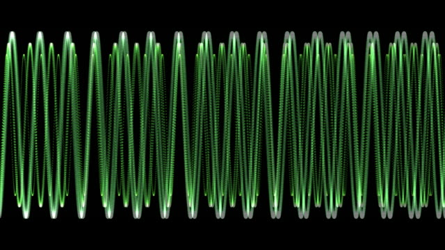 Electronic Wave form (loop) HD 1080 video