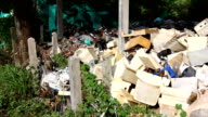 Electronical garbage dump site video