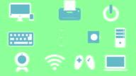 Electronics icons animation video