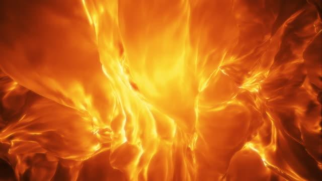 Elegant Abstract Flame Loop video
