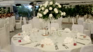 Elegant banquet hall interior video