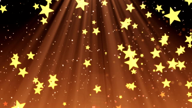 Elegant Christmas, falling stars and snowflakes in festive beams (seamless loop) video