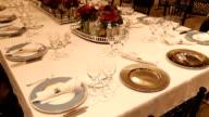 Elegant  dinner table setting video