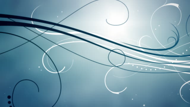 Elegant Flourishes Background Loop - Zoom Through Blue HD video