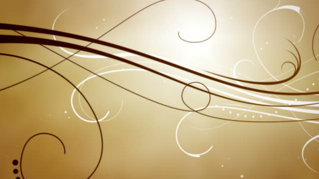 Elegant Flourishes Background Loop - Zoom Through Caramel Brown HD video