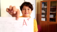 Elemantary student in the classroom video
