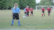 Elementary Children Playing Soccer Outdoors video