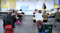 Elementary school classroom video