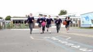 Elementary School Pupils Running Towards Camera video