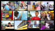 Elementary school video montage video