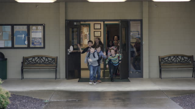 Elementary students being released from school video