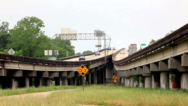 Elevated highway in Louisiana video