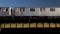 Elevated Subway 7 Train in Queens video