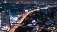T/L TD WS Elevated view of Bangkok at night video