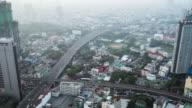 T/L WS TD Elevated view of Bangkok city at morning video